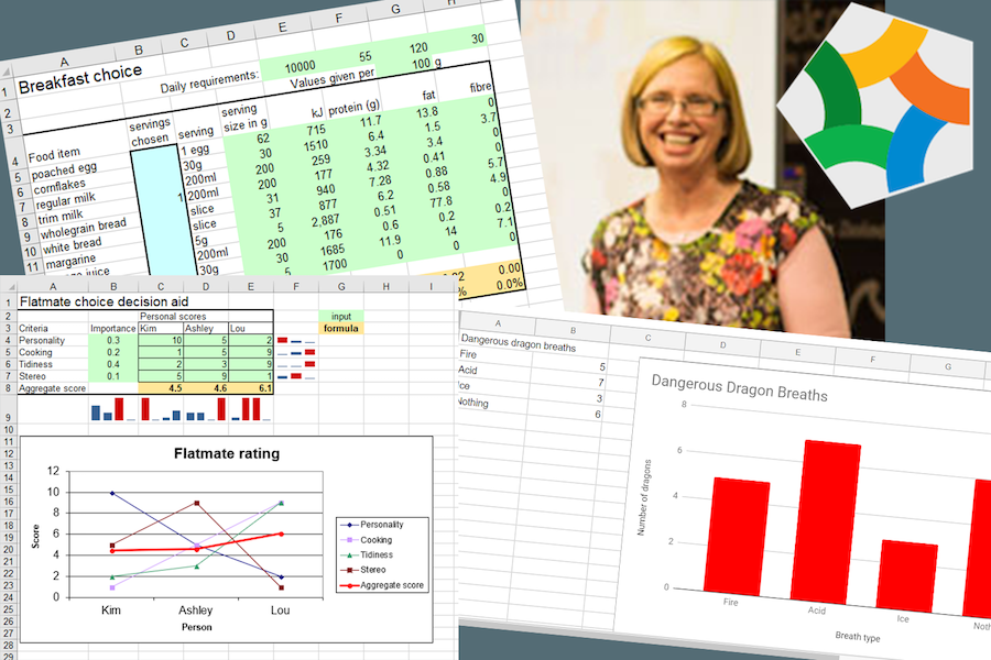 Dr Nic with some examples of spreadsheets