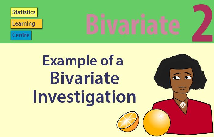 Bivariate - Example of a bivariate model