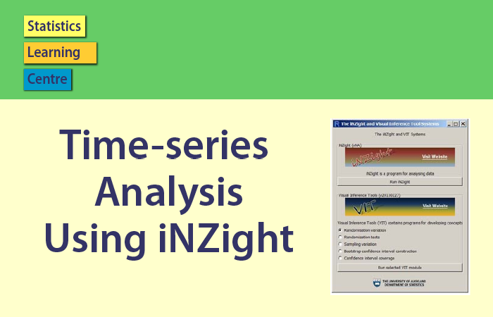 Time series analysis using iNZight